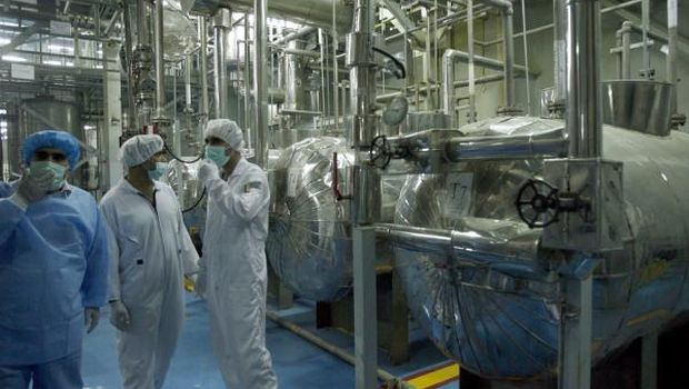 A file photograph showing technicians of the IAEA inspecting the site of the uranium conversion plant in Isfahan, central Iran, on 3 February 2007. (EPA/Abedin Taherkenareh)
