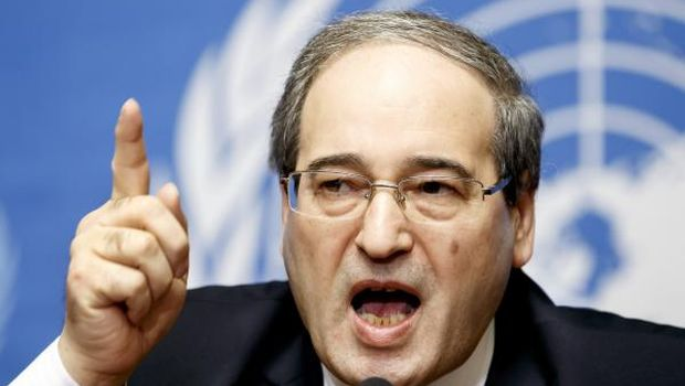 Syrian Deputy Foreign Minister Faisal Miqdad speaks during a new press conference at the European headquarters of the United Nations, in Geneva, Switzerland, January 26, 2014. (EPA/Salvatore Di Nolfi)
