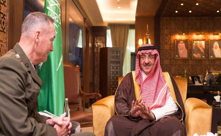 Crown Prince Receives Chief of U.S. Joint Chiefs of Staff