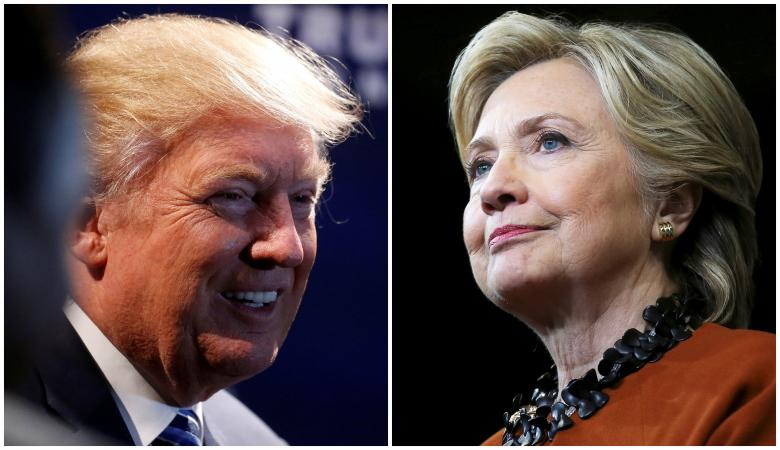 Combination photo of Republican presidential nominee Donald Trump and Democratic presidential candidate Hillary Clinton in North Carolina
