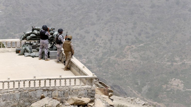 Projectiles Fired from Yemen Wound 14 in Saudi Arabia