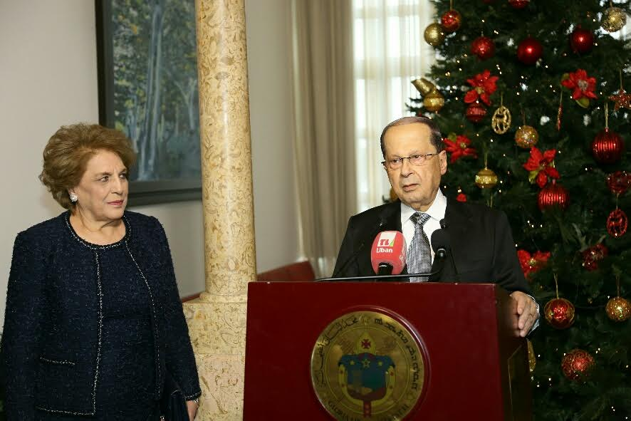 Lebanon's President Attends Christmas Celebrations for First Time since Two Years