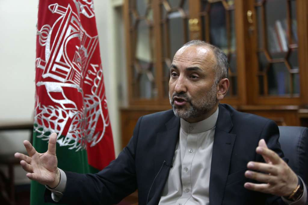 Afghan's National Security Advisor Mohammad Hanif Atmar.
