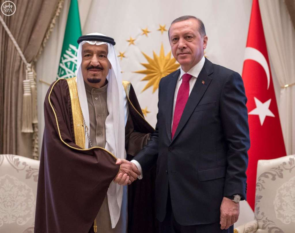 King Salman to Erdogan: 'We Stand with Turkey against Terror'