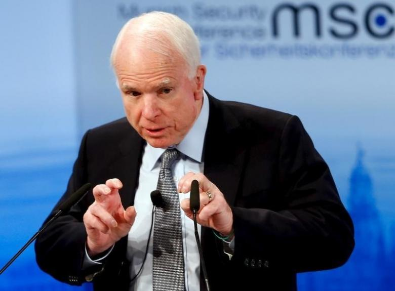 Senator McCain Advises Trump Administration against Lifting Sanctions on Russia