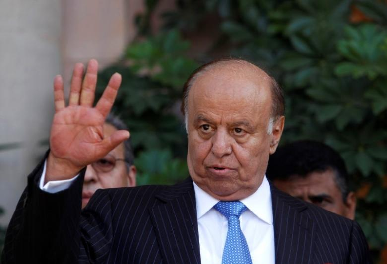 File photo of Yemen's President Abd-Rabbu Mansour Hadi during a news conference in Sanaa