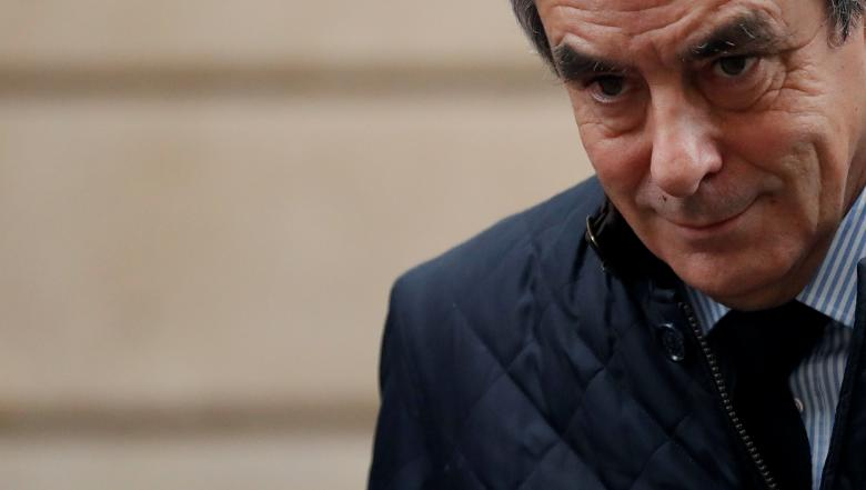 Francois Fillon, former French prime minister, member of The Republicans political party and 2017 presidential candidate of the French centre-right, leaves home in Paris, France, February 1, 2017. REUTERS/Christian Hartmann