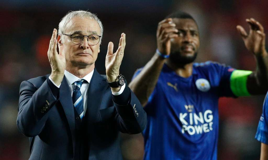 Claudio Ranieri pictured after the 2-1 first-leg defeat to Sevilla in the Champions League, his last game as Leicester City manager. Photograph: John Sibley/Reuters