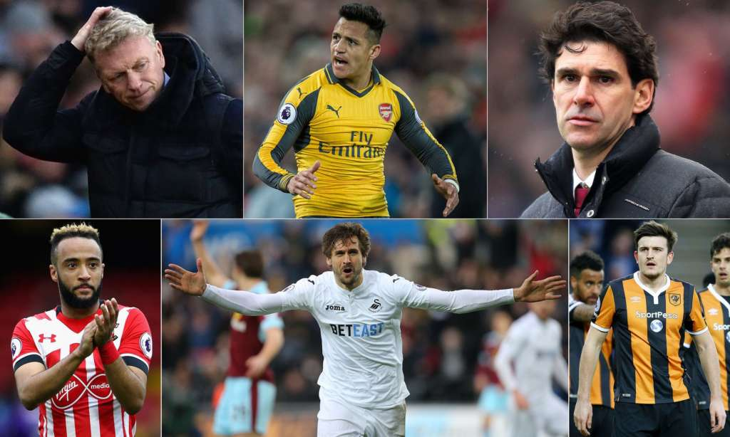 From the plight of David Moyes and Aitor Karanka to the unstoppable force of Fernando Llorente, there was plenty to chew over this weekend. Composite: BPI, Rex/Shutterstock, EPA, Getty Images