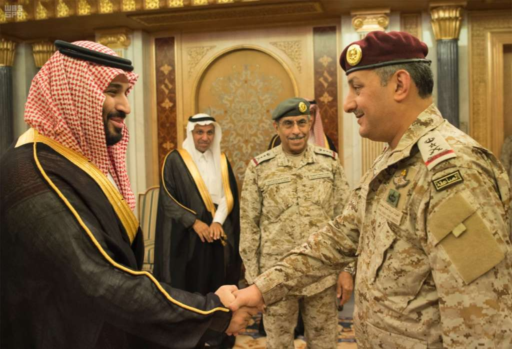 Deputy Crown Prince Decorates Commander of Land Forces with His New Rank