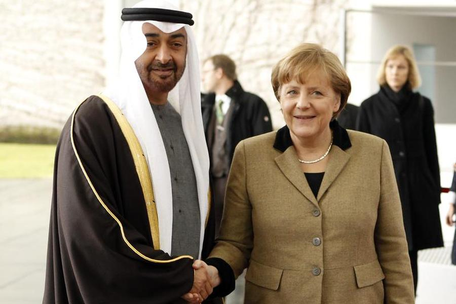Merkel in UAE, Seeks Diplomatic Solution in Yemen