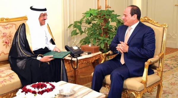 Egyptian president receives Saudi Minister of State and Member of the Cabinet Dr. Issam bin Saad bin Saeed, on May 13,