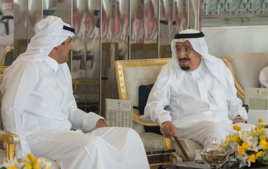 Custodian of the Two Holy Mosques Receives Qatar's Emir