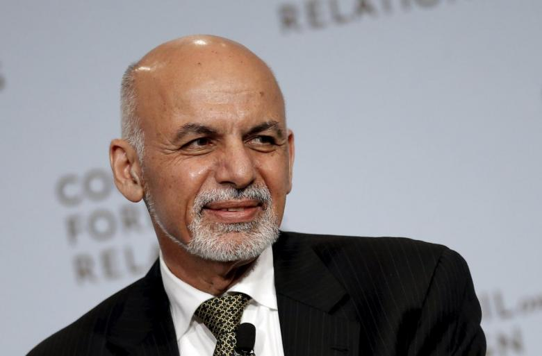 Afghanistan President Ashraf Ghani addresses the Council on Foreign Relations in New York