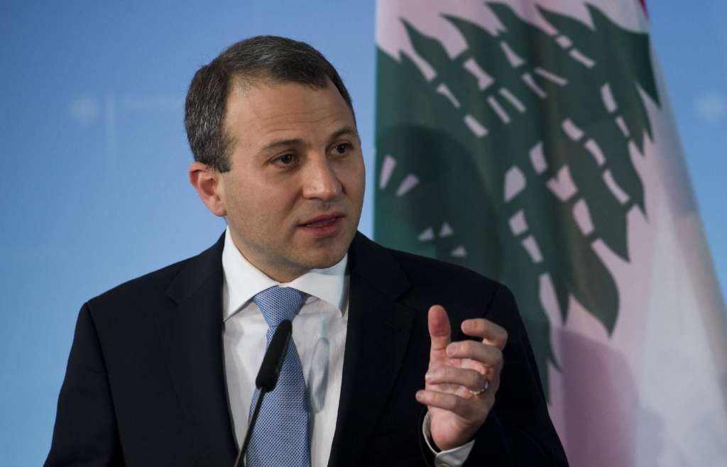 Lebanese Foreign Minister Gebran Bassil speaks during a press conference in Berlin, on May 6, 2014