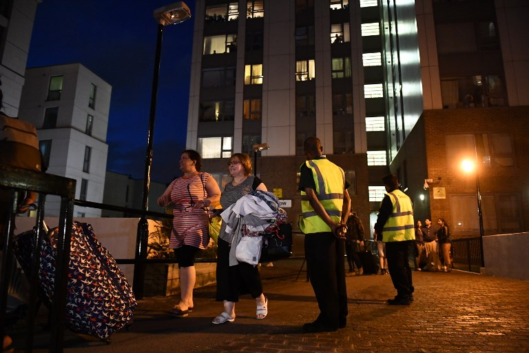 BRITAIN-FIRE-EVACUATION- GRENFELL