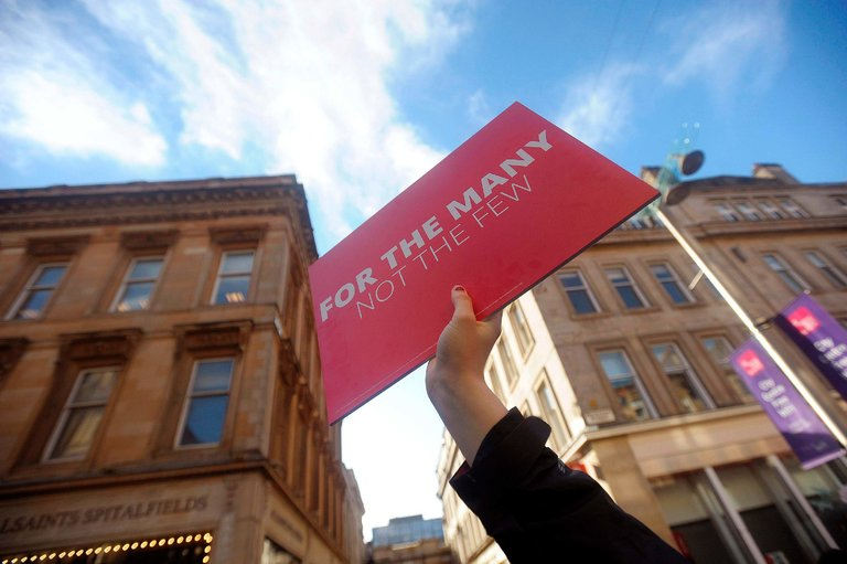 A Labour Party campaign rally in Glasgow, Scotland, on June 7, 2017.CreditAndy Buchanan/Agence France-Presse — Getty Images
