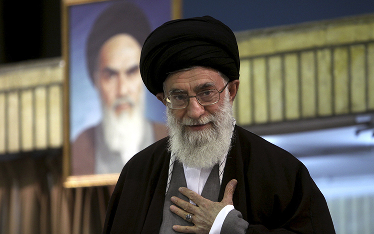 Supreme Leader Ali Khamenei, shown at a 2009 clerical gathering, oversees an organization called Setad that has assets estimated at about $95 billion.