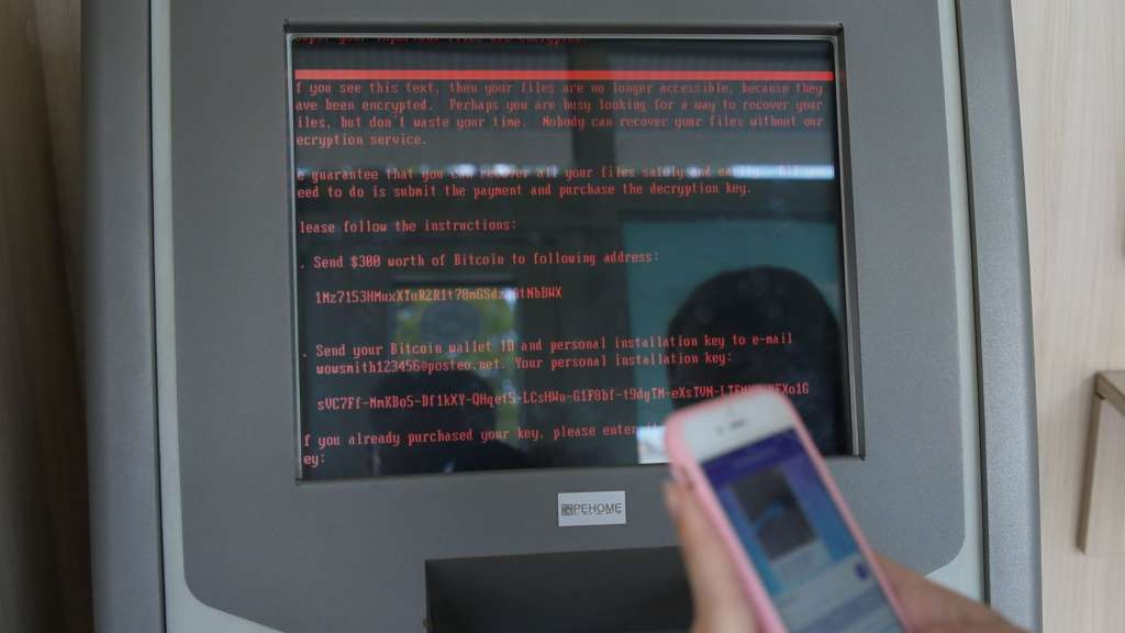ormally you ask ATMs for money. In cyber-attacked Ukraine, ATMs ask you.