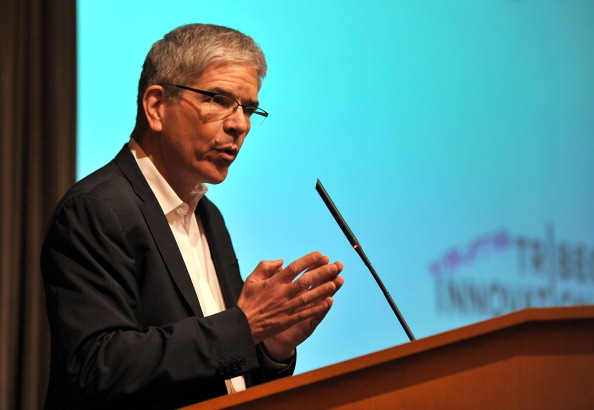 NEW YORK, NY - APRIL 26: Paul Romer of Stanford University speaks at the Disruptive Innovation Awards at The 2011 Tribeca Film Festival at Citibank Building On Greenwich on April 25, 2011 in New York City. (Photo by Slaven Vlasic/Getty Images)