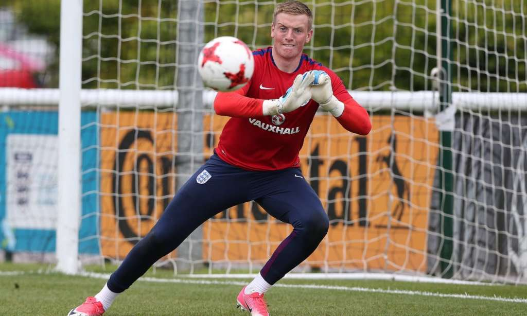 Jordan Pickford will not decide on his club future until after England U21s' European Championship campaign. Photograph: Nigel Roddis/Getty Images