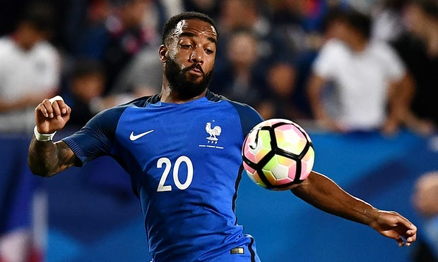 Alexandre Lacazette has been called up for the first time in two years by the France coach, Didier Deschamps. Photograph: Franck Fife/AFP/Getty Images