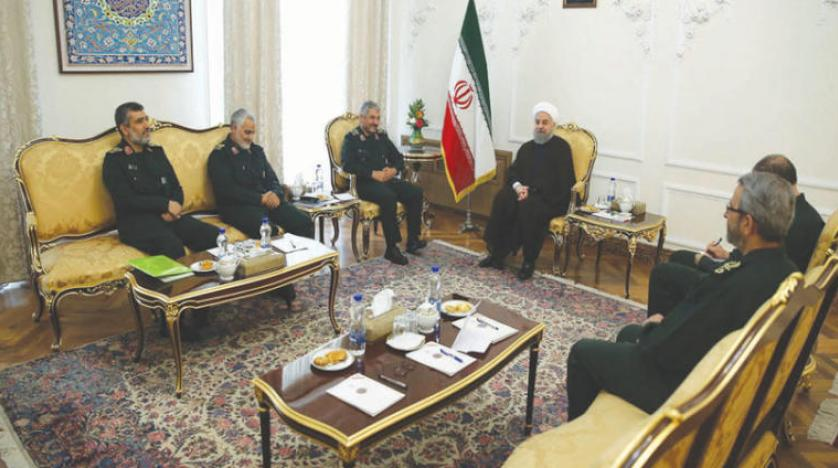 President Rouhani meeting with IRGC commanders