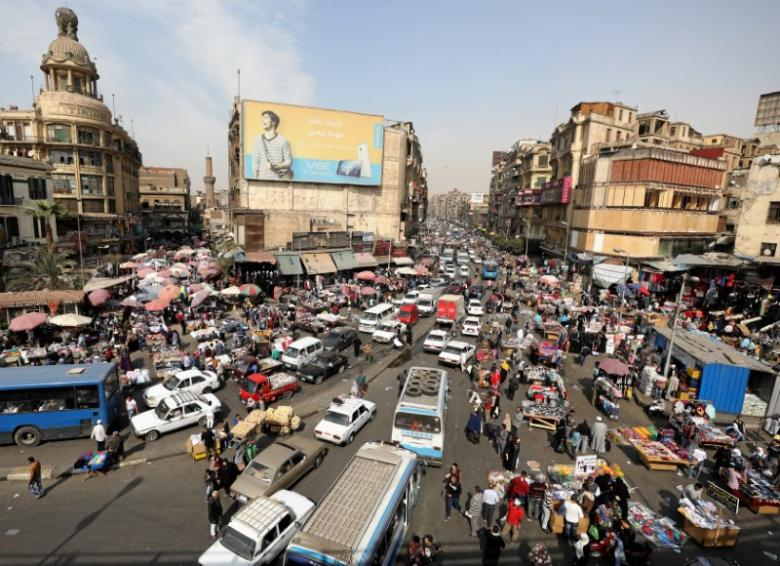 A general view of a street in downtown Cairo