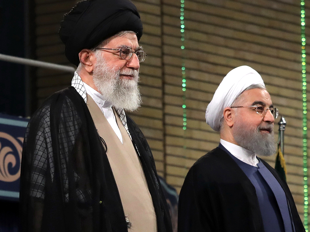 President Hassan Rouhani sworn in for the second term (AFP)