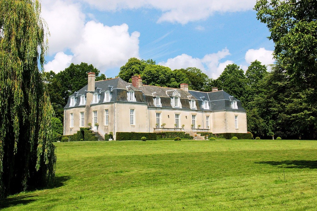 This restored chateau, named La Gaudinelaye, dates to the late 17th and early 18th century. It sits in the middle of a grassy park, and its 25-acre grounds include a chapel. The property is south of Rennes. Credit: Cabinet Le Nail