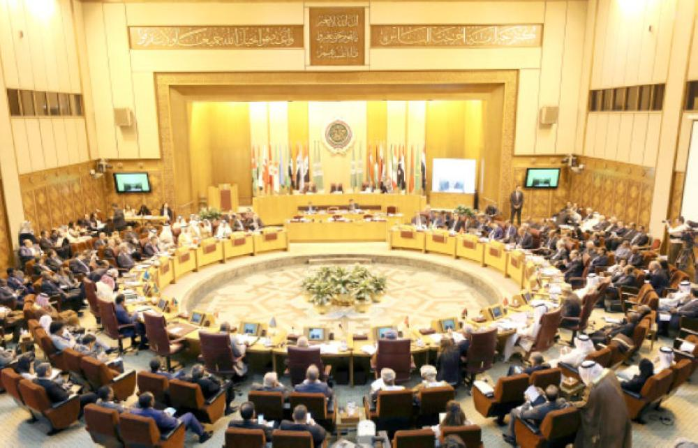 Arab foreign ministers meet during a regular session in Cairo.
