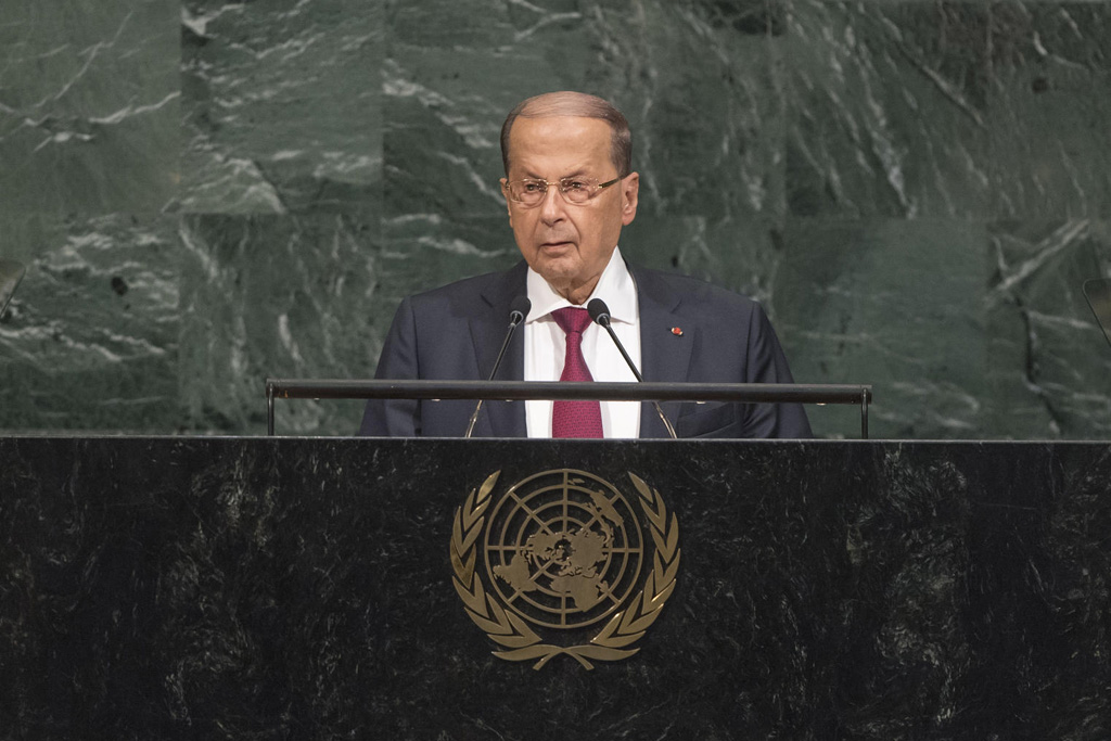 Aoun Rejects Settlement, Stresses Refugees' Safe Return to Syria