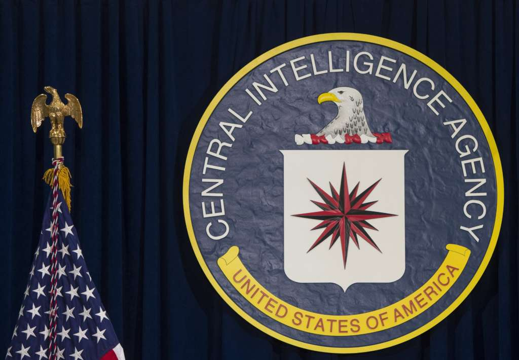 The logo of the Central Intelligence Agency is seen at CIA Headquarters in Langley, Virginia, April 13, 2016.