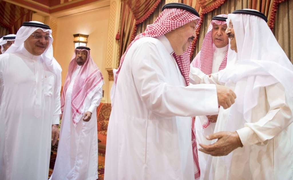 King Salman Holds Talks with Emir of Kuwait