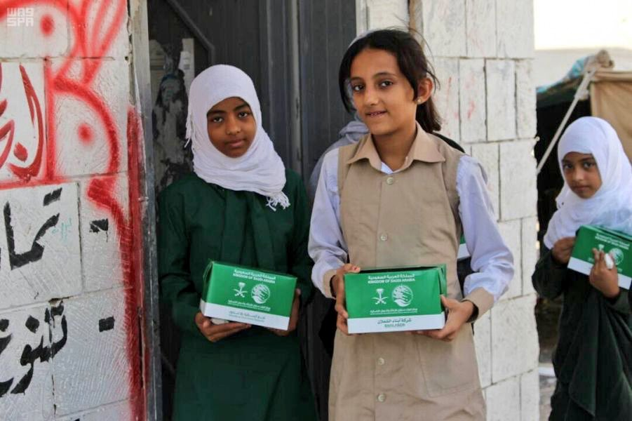 KSRelief provides 53,433 meals to Yemeni schools accommodating internally displaced students.